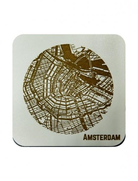 WoodyMaps ♥ Amsterdam • Onderzetter