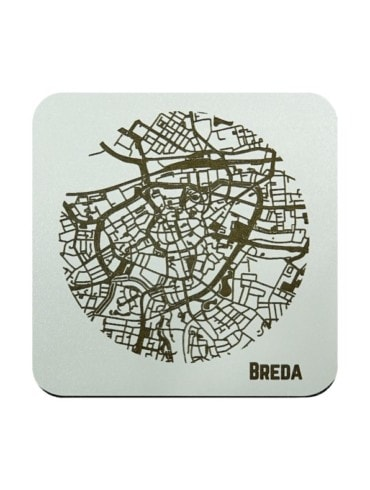 WoodyMaps ♥ Breda • Coaster