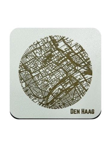 WoodyMaps ♥ Den Haag • Coaster