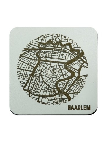 WoodyMaps ♥ Haarlem • Coaster