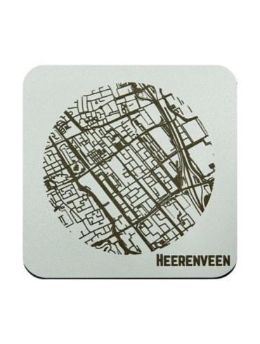 WoodyMaps ♥ Heerenveen • Coaster