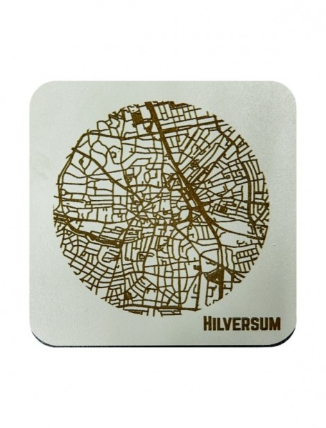 WoodyMaps ♥ Hilversum • Coaster