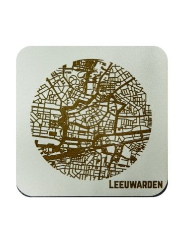 WoodyMaps ♥ Leeuwarden • Coaster