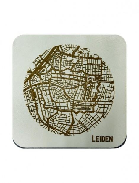 WoodyMaps ♥ Leiden • Coaster