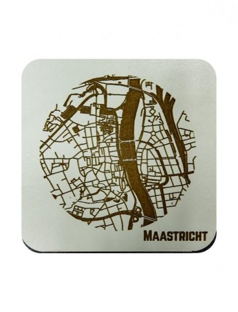 WoodyMaps ♥ Maastricht • Coaster
