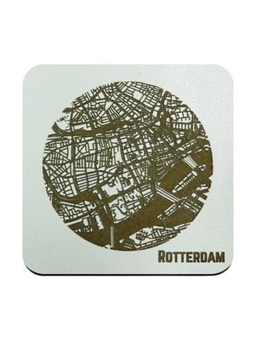 WoodyMaps ♥ Rotterdam • Coaster