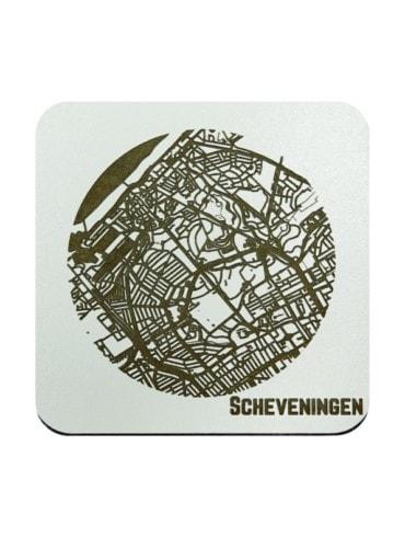 WoodyMaps ♥ Scheveningen • Coaster