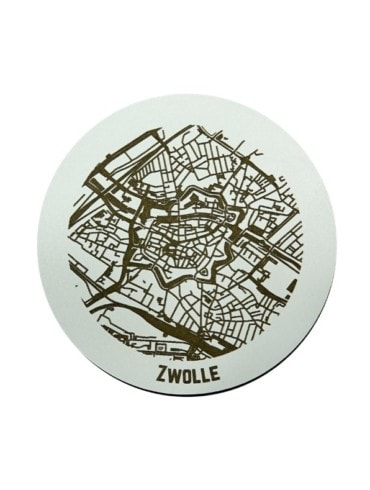 WoodyMaps ♥ Zwolle • Coaster